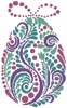 Abstract Easter Egg 3 - Cross Stitch Chart