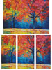 Autumn Landscape Abstract (Large) - Cross Stitch Chart