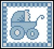 Baby Boy Card - Cross Stitch Chart