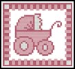 Baby Girl Card - Cross Stitch Chart