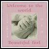 Baby Girl Hand Sampler - Cross Stitch Chart