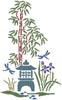 Bamboo, Iris and Lantern - Cross Stitch Chart