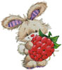 Berry Cute Rabbit - Cross Stitch Chart