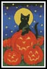 Black Cat and Pumpkins - Cross Stitch Chart