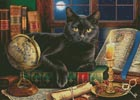 Black Cat by Candlelight - Cross Stitch Chart