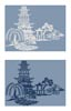 Blue Willow - Cross Stitch Chart