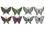 Butterfly Set 1 - Cross Stitch Chart