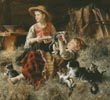 Calling on Farmyard Friends (Large) - Cross Stitch Chart