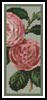 Camellias 5 Bookmark - Cross Stitch Chart