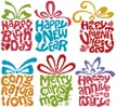 Celebrations Card Set - Cross Stitch Chart