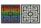 Celtic Rainbow Design - Cross Stitch Chart