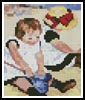Children on the Beach Card - Cross Stitch Chart