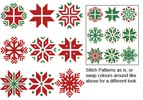 Christmas Snowflake Set 1 - Cross Stitch Chart
