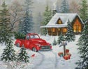 Christmas Tree Cabin - Cross Stitch Chart