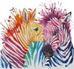 Colourful Zebras - Cross Stitch Chart