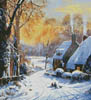 Cottages and Sledgers (Crop) - Cross Stitch Chart