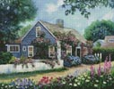 Cottage with Roses - Cross Stitch Chart