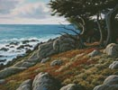 Cypress and Sea - Cross Stitch Chart