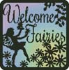 Fairy Silhouette Square 1 - Cross Stitch Chart
