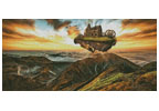 Floating Steampunk Mountain (Large) - Cross Stitch Chart