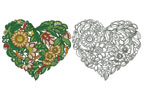 Floral Heart 2 - Cross Stitch Chart