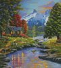 Going to the Sun View (Crop) - Cross Stitch Chart