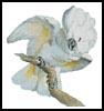 Great White Crested Cockatoo - Cross Stitch Chart