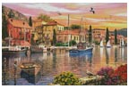 Harbour Sunset (Large) - Cross Stitch Chart