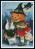 Jack O'Lantern Witch - Cross Stitch Chart