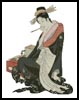 Japanese Lady 2 - Cross Stitch Chart