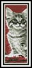 Kitten in Red Bookmark - Cross Stitch Chart