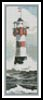 Lighthouse Painting Bookmark - Cross Stitch Chart