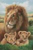 Lion and Cubs - Cross Stitch Chart