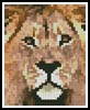 Lion Card - Cross Stitch Chart