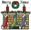 Little Christmas Fireplace - Cross Stitch Chart