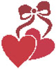 Little Hearts and Bow - Cross Stitch Chart