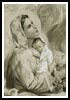 Mary and Baby Jesus - Sepia - Cross Stitch Chart