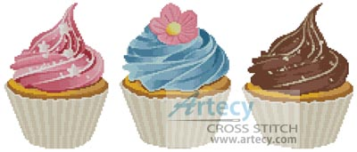 Cupcakes - Cross Stitch Chart