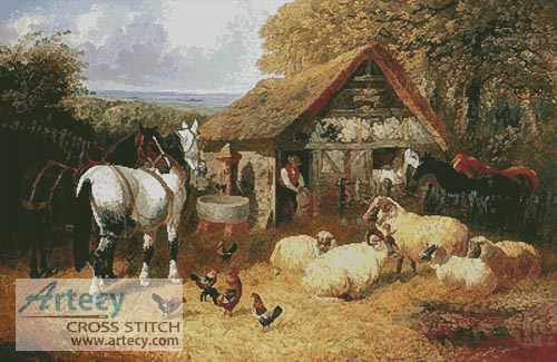 Farmyard Scene (Large) - Cross Stitch Chart