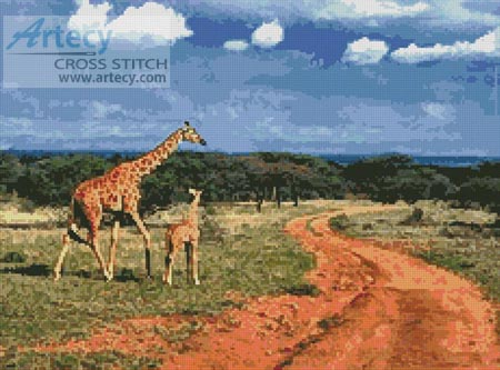 Giraffes 2 - Cross Stitch Chart