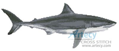Great White Shark - Cross Stitch Chart