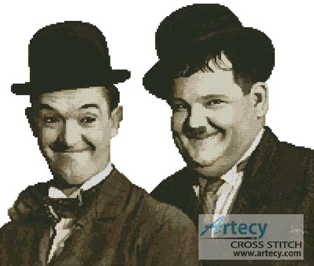 Laurel and Hardy - Cross Stitch Chart