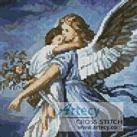 printable mini cross stitch angel pattern