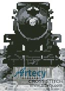 Mini Vintage Train - Cross Stitch Chart