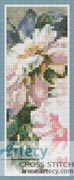 Pink Peonies Bookmark - Cross Stitch Chart
