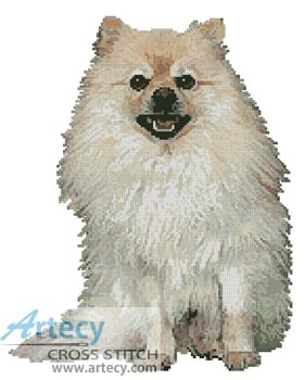 Pomeranian - Cross Stitch Chart
