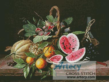 Still Life with Fruit - Cross Stitch Chart