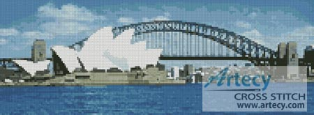 Sydney Harbour in the Day - Cross Stitch Chart