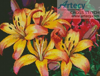 Tropical Flowers - Cross Stitch Chart