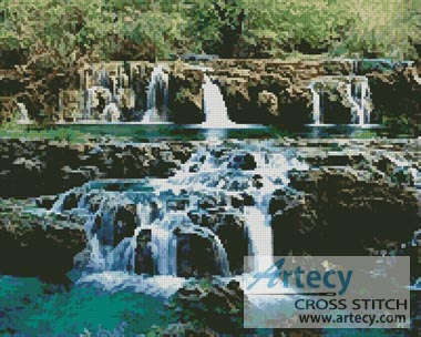 Waterfalls - Cross Stitch Chart